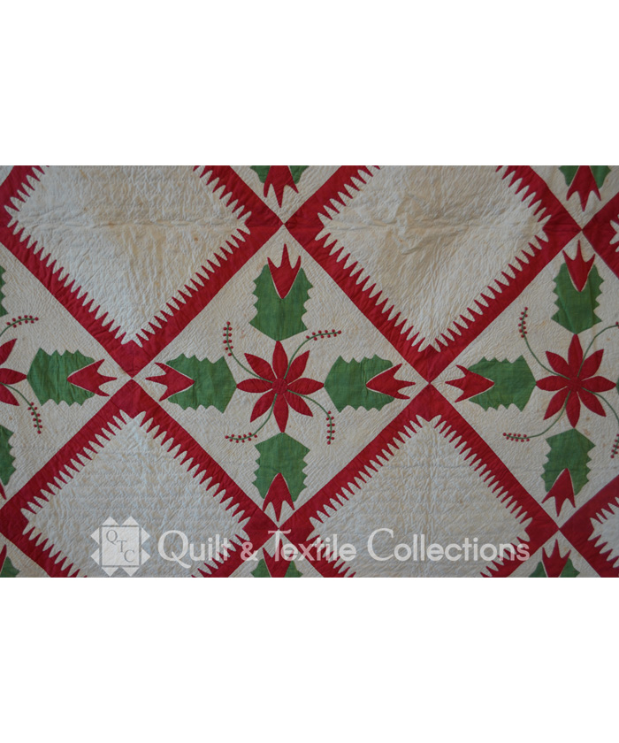 Photo Gallery and Ex&les of Modern and Antique Quilts : red and green quilts - Adamdwight.com
