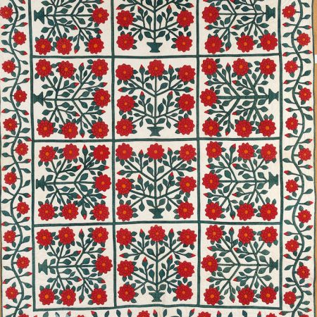 Red And Green Quilt